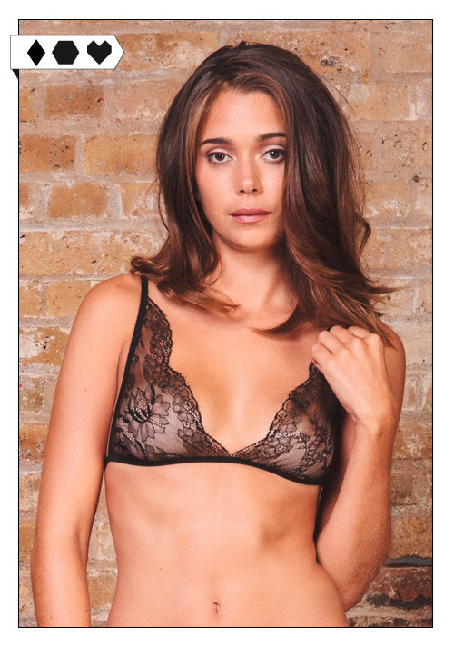 Luva Huva / Black Sweet Juliet Chantilly Lace Bra