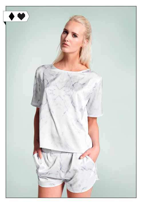 A Question Of / White Marble Boxy T