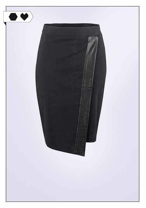Deepmello / Cotton Leather Skirt