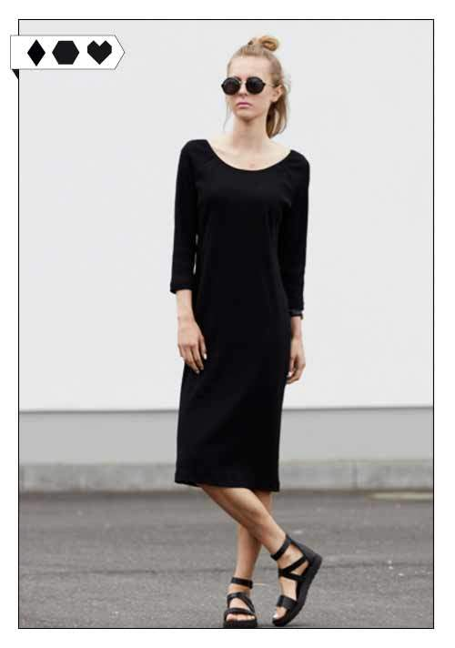 JAN N JUNE / DRESS MALALA RIB BLACK