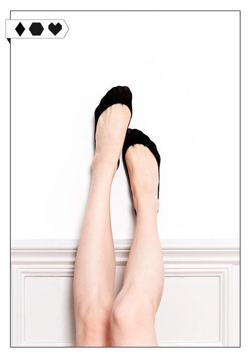 Faire Sneaker Söckchen von Swedish Stockings Ester Steps Fuesslinge schwarz auf Slow Fashion Blog Sloris