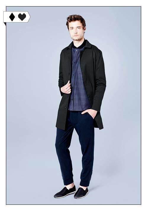 SLORIS Elementy Fair Fashion Carbon Coat in Schwarz für Männer. Fair hergestellt in Polen.