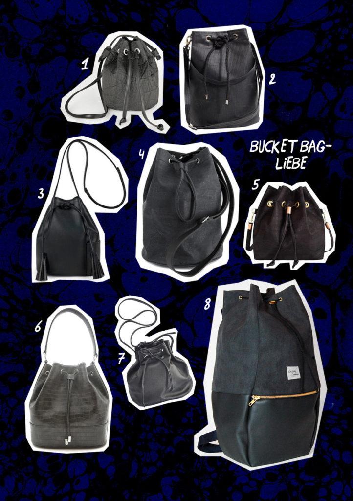 Bucket Bags: Bucket Bag Liebe: 8 Fair Fashion Taschen auf dem deutschen Modeblog Sloris. Slow down and Fashion up!
