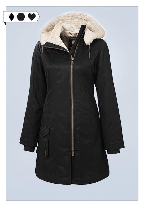 Hemp Hoodlamb / veganer Ladies Long Coat