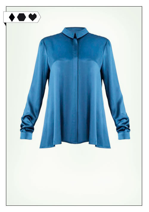 Jan n June Bluse sloris-jan-n-june-portia-petrol-loveco-bluse-fairfashion-slowfashion-blau-recyceltes-polyester-upcycling-big