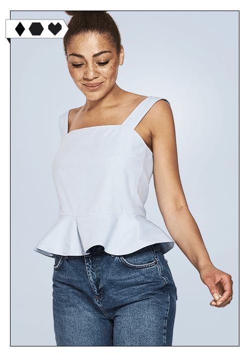 Lovjoi Top SLORIS-Lovjoi-Schoesschen-Volants-Top-Fair-Fashion-Slow-Fashion-faire-Mode-Organic-Cotton-Rueschen-Top