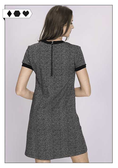 recolution / Sweat Dress Salt n Pepper