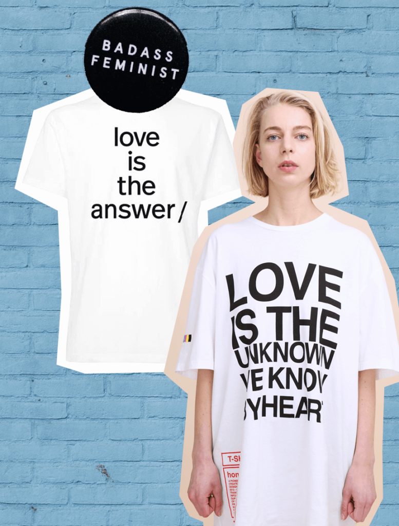 Statement-Shirts Statement-Shirts Statement Shirts Sloris Slow Fashion Blog Fair Fashion Slow Fashion Ethical Sustainable nachhaltige Mode Organic Cottonmy sister thokk thokk love is the answer bruno pieters honest by