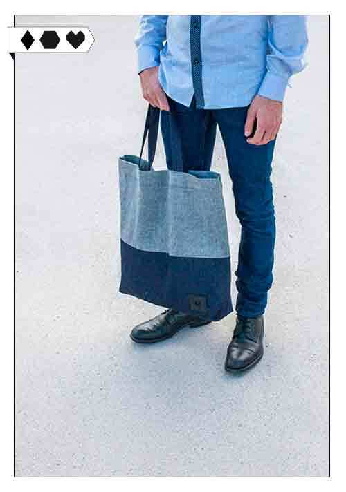Nurmi / Hemp Denim Bag Heino