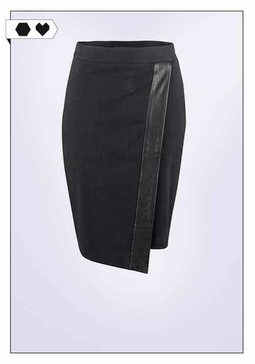 Deepmello / Cotton Leather Skirt