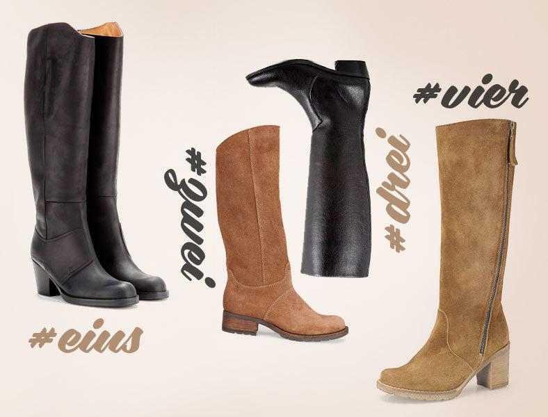 Slow Fashion Boots Stiefel in schwarz und camel