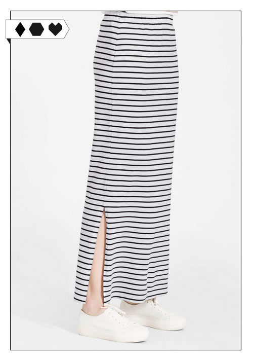 Armedangels Maxirock Armed Angels SLORIS_armedangels_Rock_skirt_striped_streifen_big