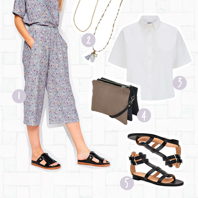 Slow Fashion Culotte Outfit Asos Eco Edit A beautiful Story Peopletree Beliya Bags Cosi Cosi vegane Schuhe Fair Fashion Sloris Hamburg Style Looks
