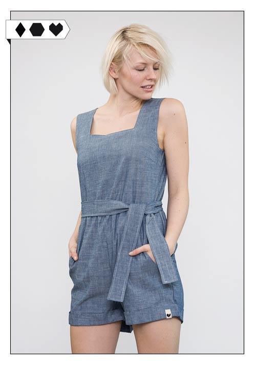 Lovjoi Jumpsuit Bavara auf dem Slow Fashion Blog Sloris. Slow down and fashion up! 100% Organic Cotton. GOTS zertifiziert. FS 2016