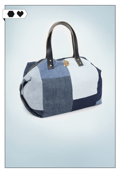 Bridge and Tunnel Handtasche Feride aus recyceltem Denim. Fair Fashion made in Hamburg.