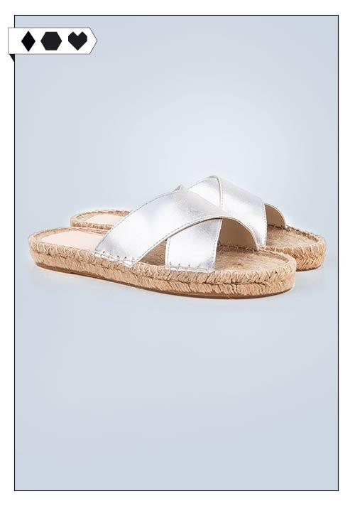 Espadrille Wedge Sandals SLORIS_Beyond-Skin- Sandallette-vegan-metallic-Espadrilles-Look-Silber-big