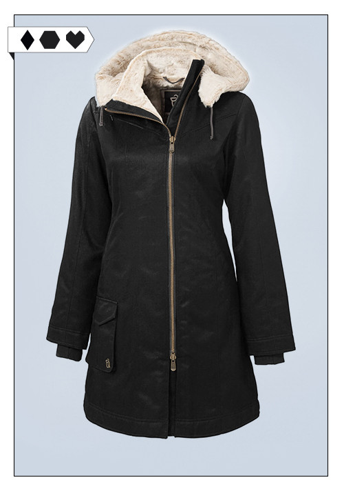 Hemp Hoodlamb / veganer Ladies Long Coat