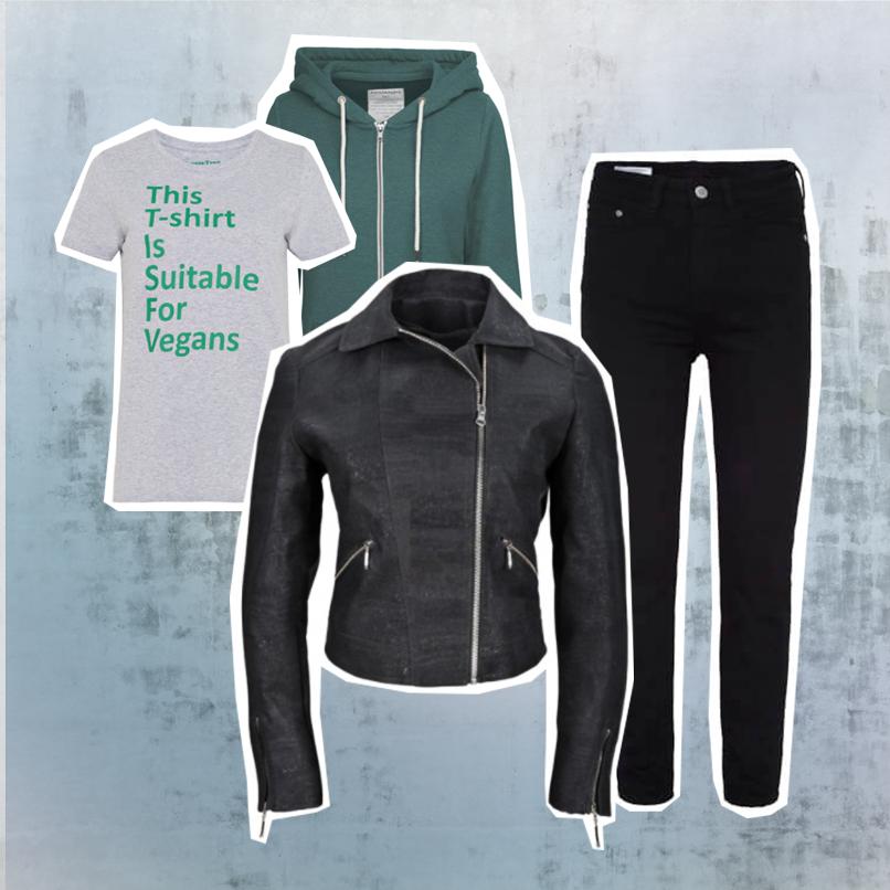 Lederjacke Bandshirt SLORIS-bandshirt-lederjacke-skinny-jeans-trend-check-slow-fashion-nachhaltige-Mode_0000_Ebenenkomposition-1