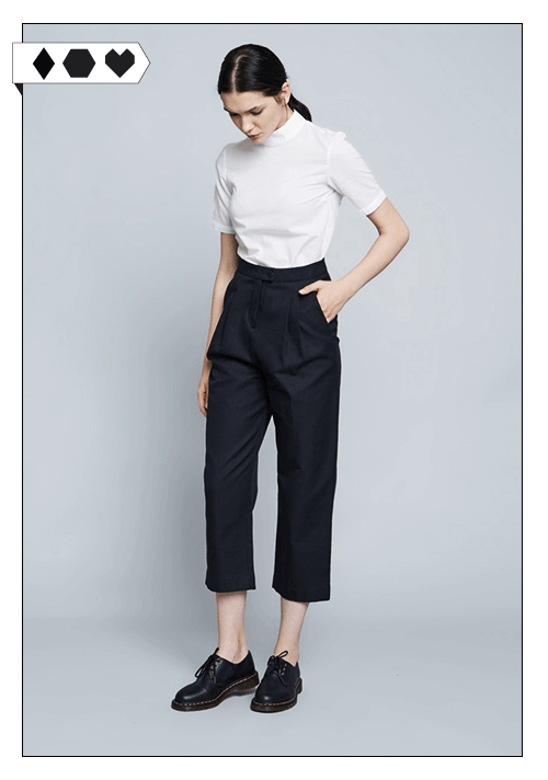 PHILOMENA ZANETTI Philomena-Zanetti-sloris-fair-fashion-slow-fashion-hose-culotte-schwarz