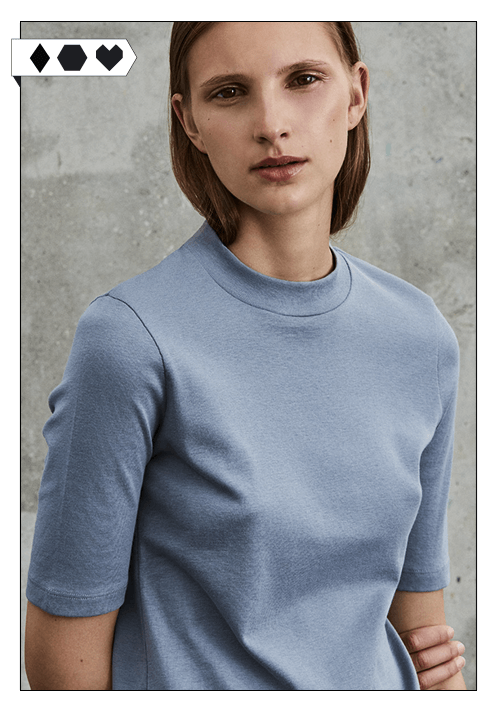 pré studios / Pima Funnel Neck Top