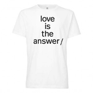 Fair Fashion Rabatte Suepergruep-Love-is-the-answer-T-Shirt-white-3184
