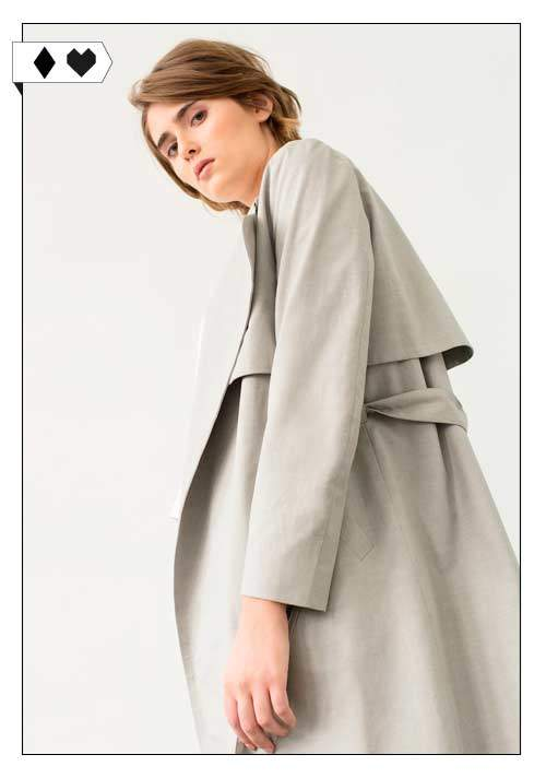 elementy Trenchcoat sloris-elementy-coat-cotton-social-vegan-trenchcoat-mantel-beige