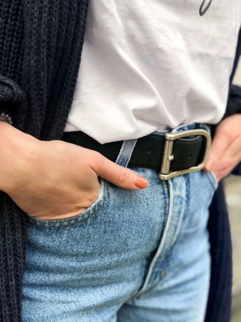 Slow Fashion Hamburg Noani Fashion vegan Belt Vintage Jeans Mit Ecken und Kanten why so perfect Honey Acne Studios