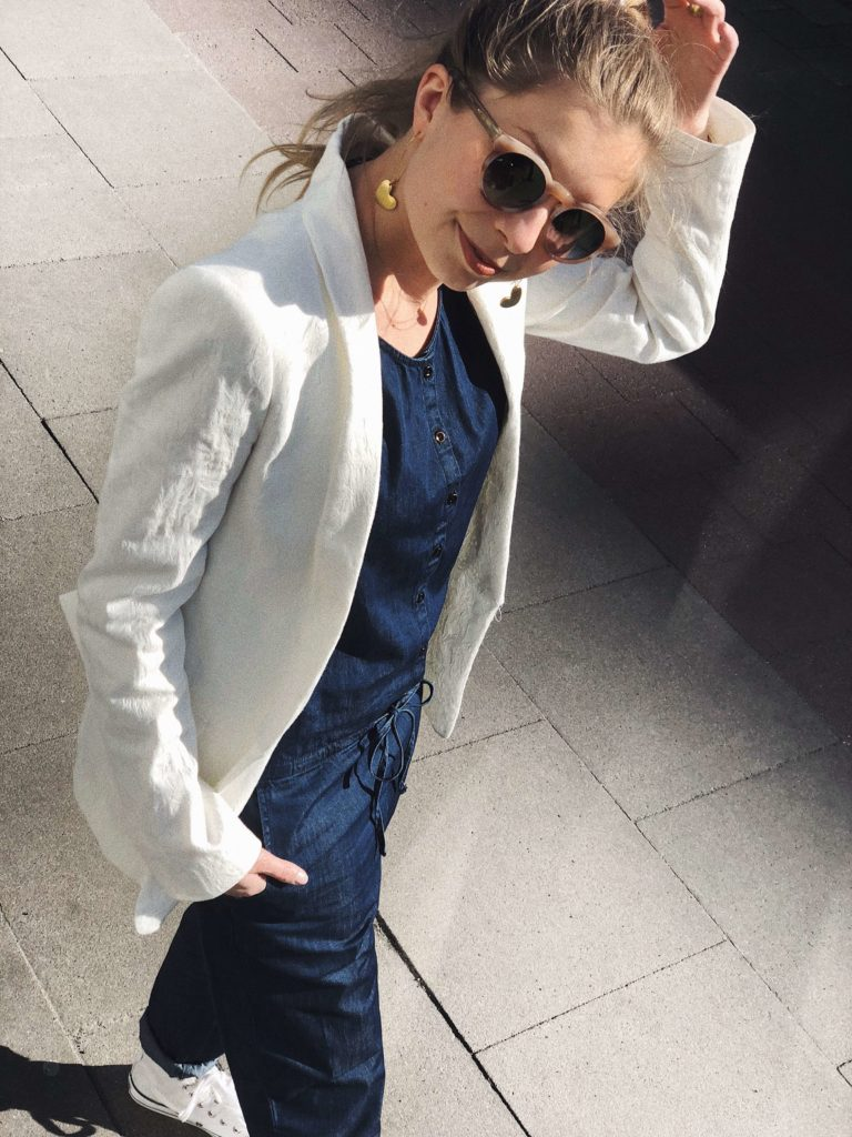 Fair Fashion Outfit sloris Maas Natur Jumpsuit ésthethique Ethical Fashion Slow nachhaltig Sustainable faire Mode