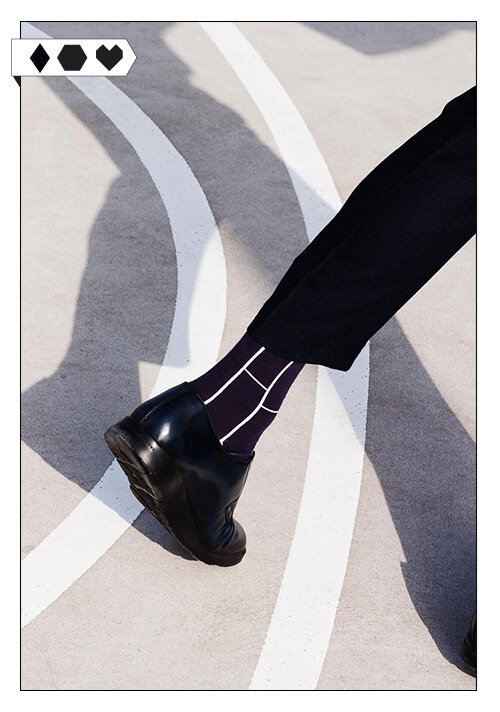 Qnoop Socken Fair Fashion Socks Schwarz Weiss Loveco Shop Fair Fashion nachhaltig