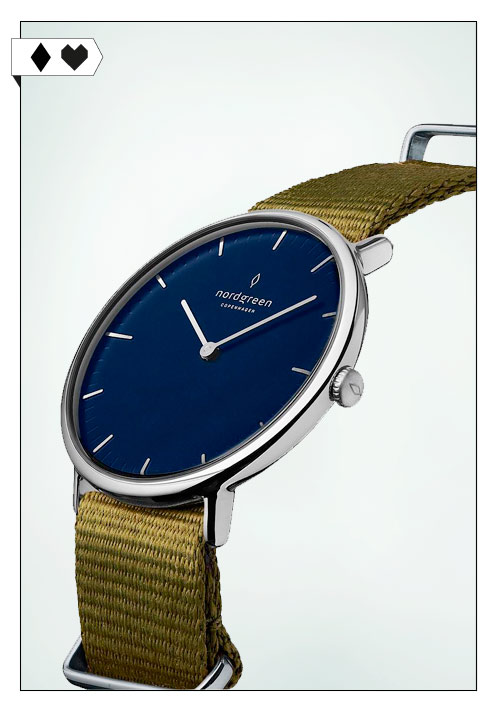 nordgreen Copenhagen Armbanduhr Silber