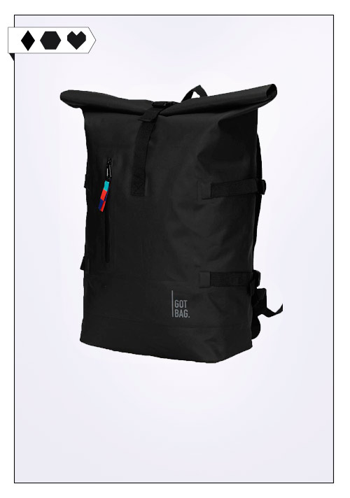 GOT Bag Rolltop Backpack black nachhaltig fair