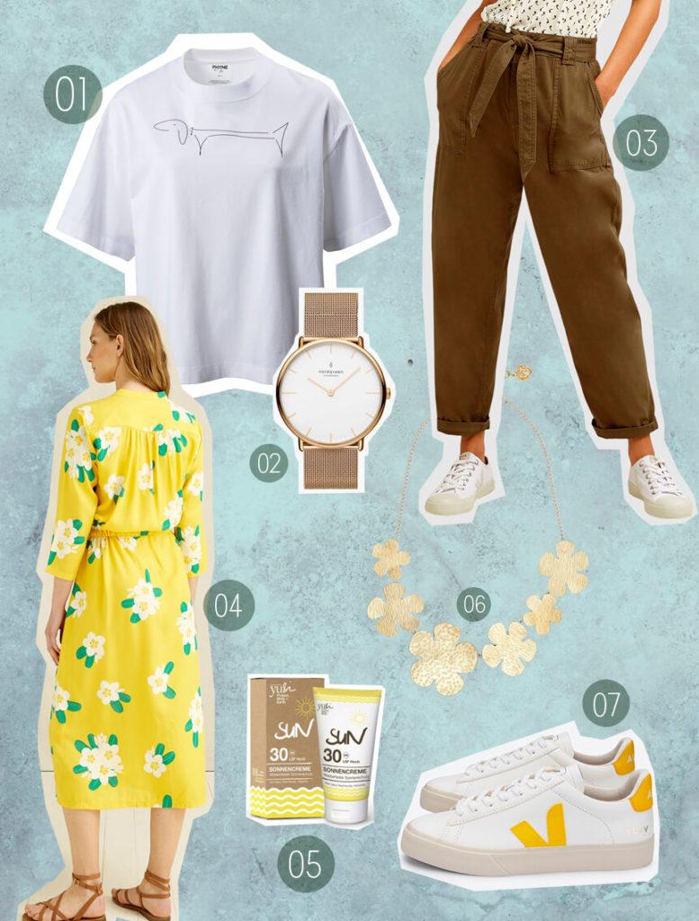 Fair Fashion Frühling –nachhaltige Mode und nachhaltig leben mit fairer Mode von nordgreen, veja, People Tree, Phyne