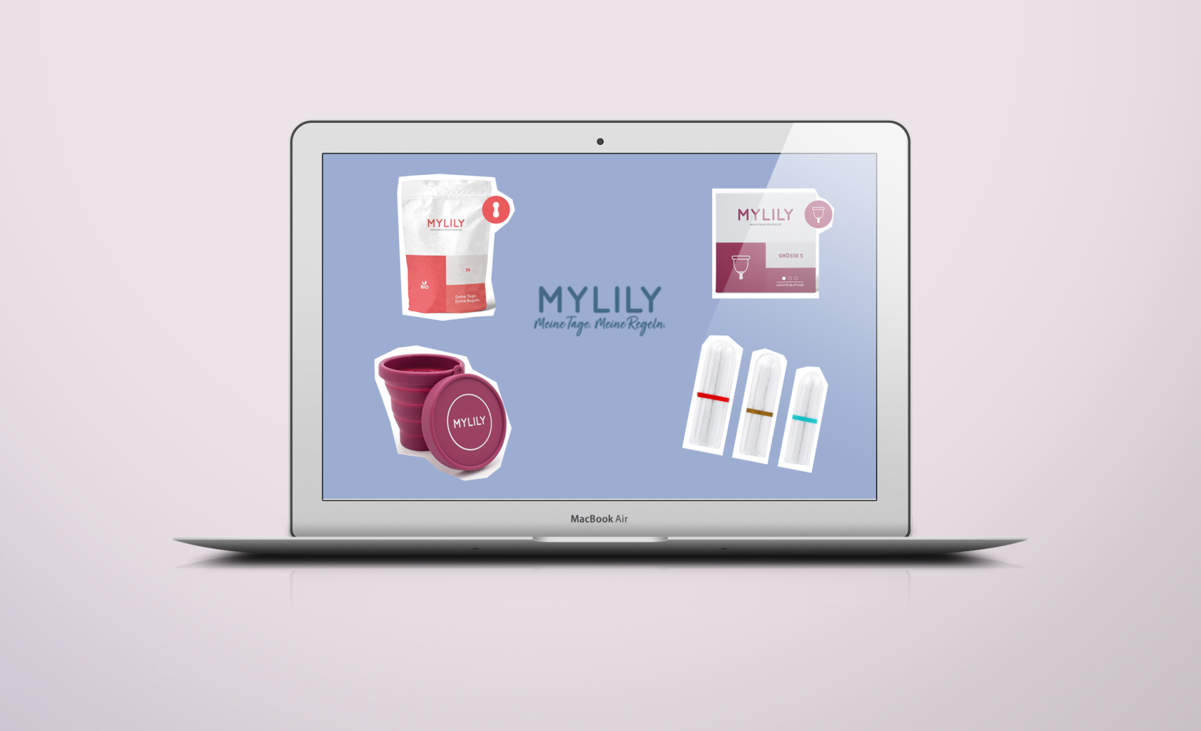 mylily nachhaltige Periode Bio Tampons Menstruations Cup Tasse