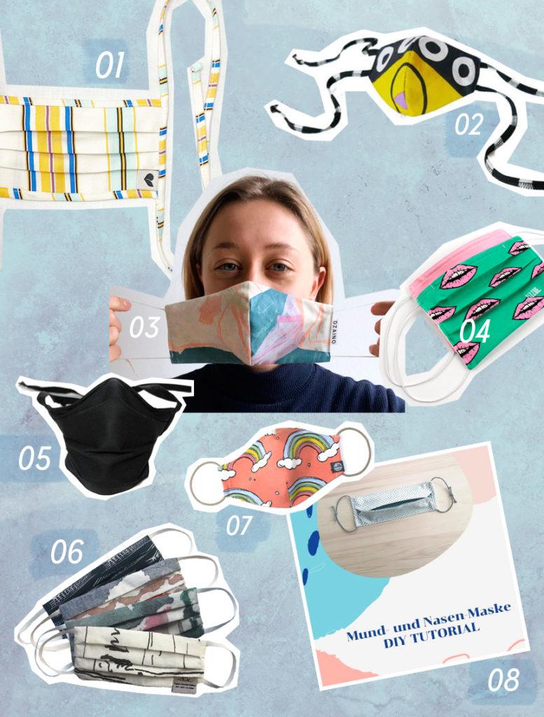 Mund-Nasen-Maske Mund Nasen Masken nachhaltig fair eco bio baumwolle tencel LOVJOI Dzaino Mundschutz selber machen
